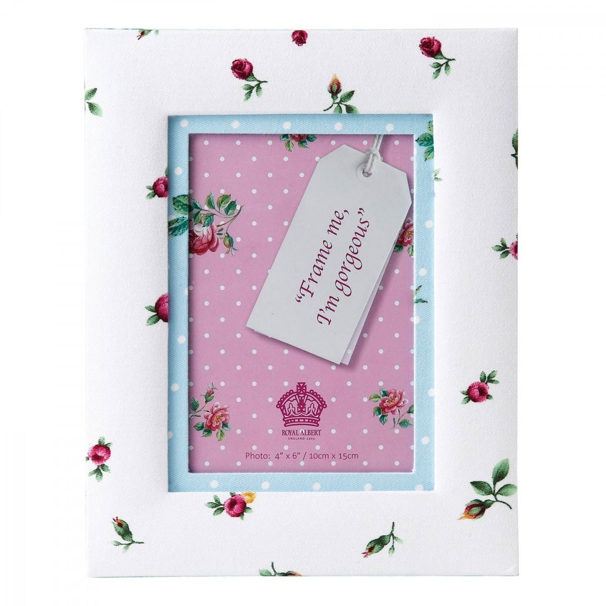 New Country Roses White Vintage 4x6 Picture Frame
