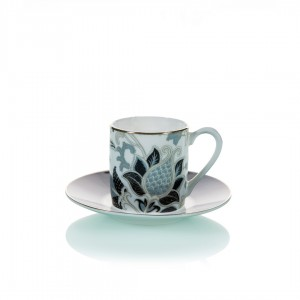 Samiz 28940 Coffee Cup and Saucer (Set Of 6)