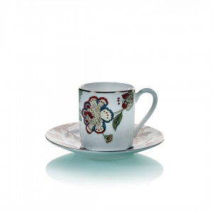 Samiz 30430 Coffee Cup and Saucer (Set Of 6)