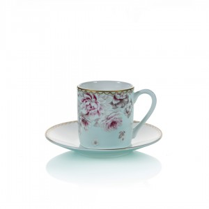 Samiz 28820 Coffee Cup and Saucer (Set Of 6)