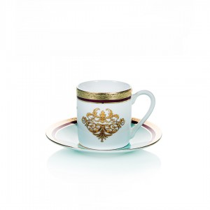 Samiz 30280 Coffee Cup and Saucer (Set Of 6)