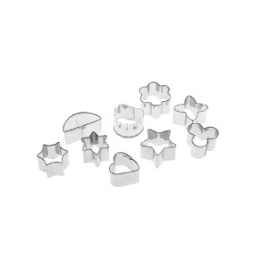 Pedrini Cutter,stainless Steel Assorted small cookie cutters 9 Pcs