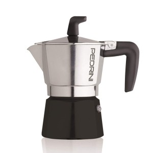 Pedrini Coffee Maker Sei Moka 3 Cups Espresso Coffee Pot, Polished Aluminium