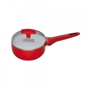 Pedrini A Red Ceramic Casserole  soft Touch, Red Bakalite Handle 16 cm