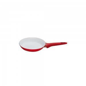 Pedrini A Red Ceramic Fry pan, soft Touch, Red Bakalite Handle 22cm