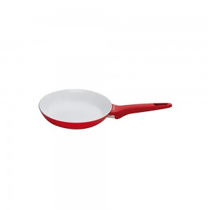 Pedrini A Red Ceramic Fry pan, soft Touch, Red Bakalite Handle 24cm