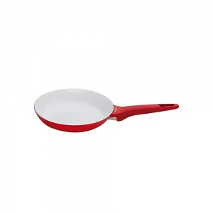 Pedrini A Red Ceramic Fry pan, soft Touch, Red Bakalite Handle 26 cm