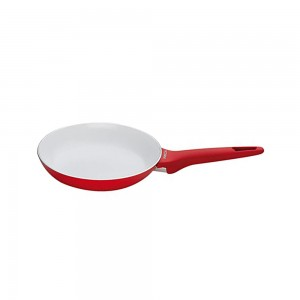 Pedrini A Red Ceramic Fry pan, soft Touch, Red Bakalite Handle 28 cm
