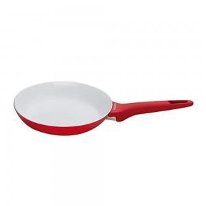 Pedrini A Red Ceramic Fry pan, soft Touch, Red Bakalite Handle 30 cm