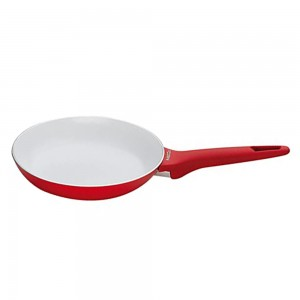 Pedrini A Red Ceramic Fry pan, soft Touch, Red Bakalite Handle 32 cm