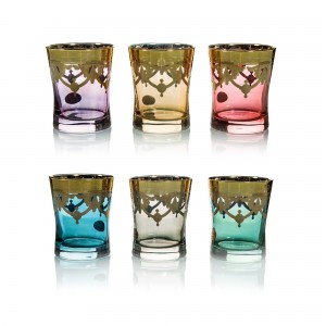 Art Decor S.R.L. Colors Glass (Set Of 6)