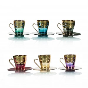 Art decor s.r.l. Tea Set colors set of 6