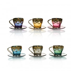Art Decor S.R.L. Coffee Set Colors (Set Of 6)