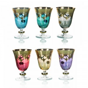 Art Decor S.R.L. Colors Glass a (Set Of 6)