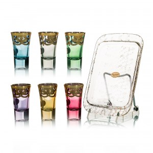 Art Decor S.R.L. Shots with Tray ( Set 7 Piece )