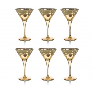 Art Decor s.r.l. Gold martini glass set of 6