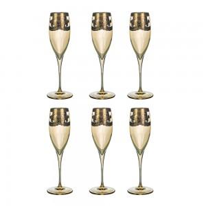 Art Decor S.R.L. Gold Glass Set Of 6