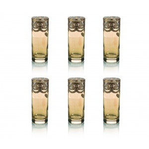 Art Decor s.r.l. Gold Glasses set of 6