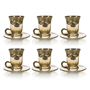 Art Decor s.r.l. Gold tea glass set of 6