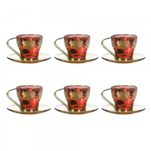 Art Decor a Red Caffee Deborah Set of 6 A3448