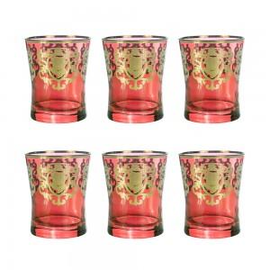 Art Decor a Red Acqua Donizetti Set of 6 A3450