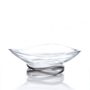 Nambe Braid Glass Centrepiece Bowl