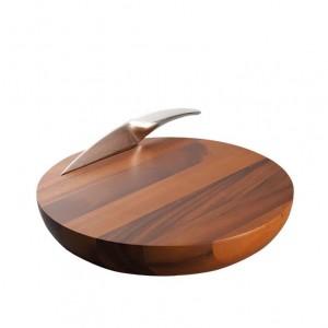 Nambe Harmony Cheese Board & Knife