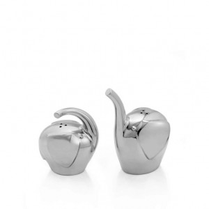 Nambe Savanna Elephant Salt & Pepper