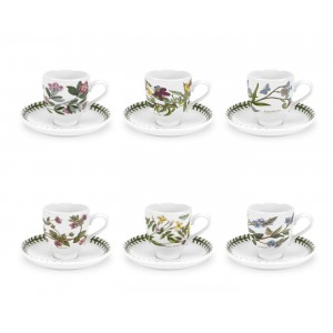 Botanic Garden Coffee Cup and Saucer Set of 6