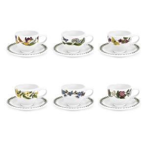Botanic Garden Espresso Cup and Saucer Set of 6