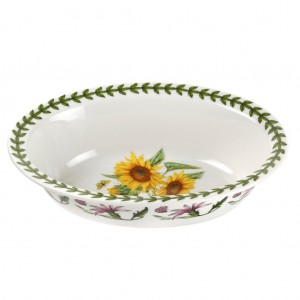 Botanic Garden Sunflower 8 Inch Oval Pie Dish