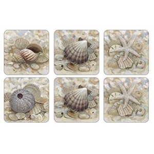 Z Pimpernel Beach Prize Coasters Set of 6