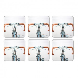 Z Pimpernel Bicycle Coasters Set of 6
