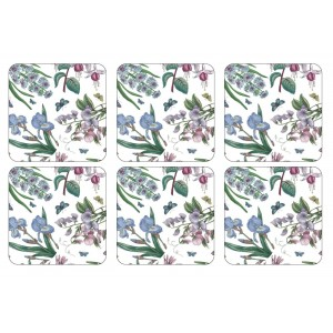 Botanic Garden Chintz Coasters Set of 6