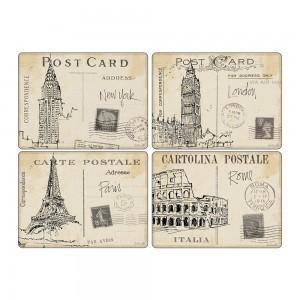 Z Pimpernel Postcard Sketches Large Placemats Set of 4