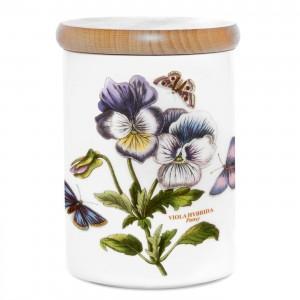 Portmeirion Botanic Garden Storage Jar 5.5 inch Pansy