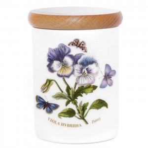 Portmeirion Botanic Garden Storage Jar 4 inch Pansy