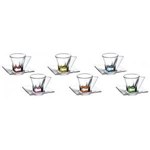 Fusion Crystal Multicolor Espresso Set