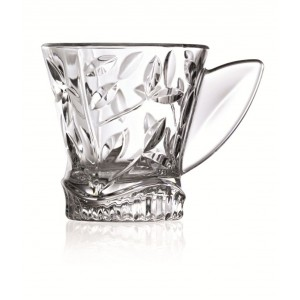 RCR Laurus  Crystal Glass Tea Cup set of  6 Pcs - 16cl
