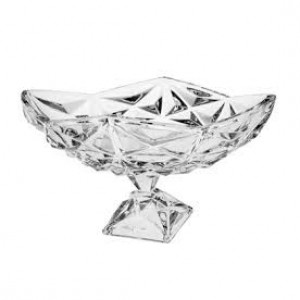 Bohemia Pyramid Crystal Footed Oval Bowl 38 cm