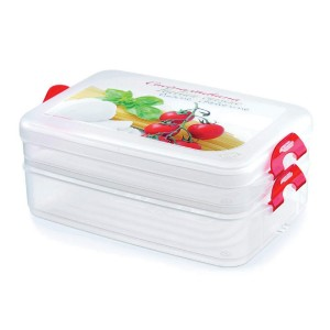 Snips Rectangular container Frigo click to preserve the Comida Fresca, de Polipropileno