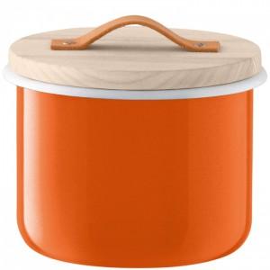 LSA UTILITY Container & Ash Lid 18 cm - Orange Color