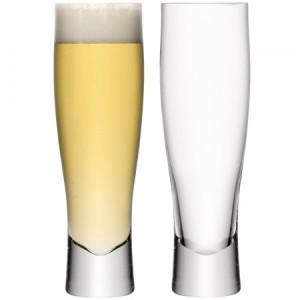 LSA BAR Lager Glass Set of 2 550ml Handmade Glass