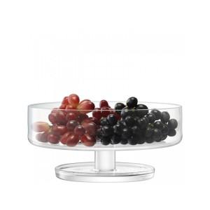 LSA DAME Fruit Bowl dia:28cm Handmade Glass