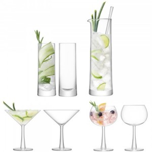 LSA GIN Cocktail Set Handmade Glass