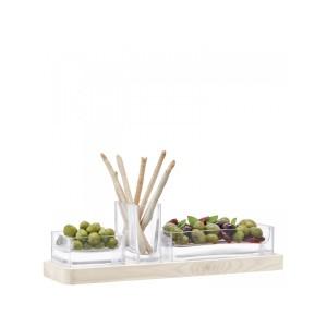 LSA MODULAR Set & Ash Base 12 x 41cm Handmade Glass
