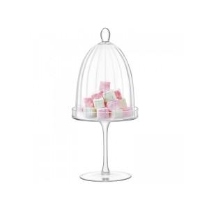 LSA AURELIA Dome & Stand dia:14.5cm Handmade Glass