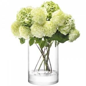 LSA COLUMN Vase/Candleholder H40cm Handmade Glass
