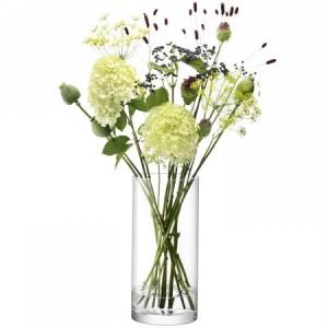 LSA COLUMN Vase H36cm Handmade Glass