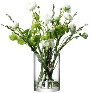 LSA COLUMN Vase 24 cm Handmade Glass
